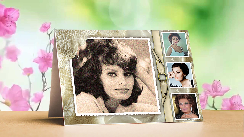 винтажная открытка, красивая открытка для красивой женщины, оригинальная открытка для женщины с Днем Рождения, открытка на заказ